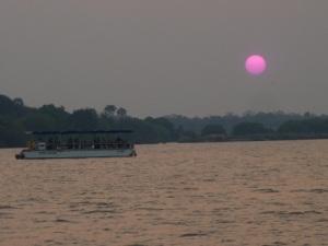 zambezi pink sunset