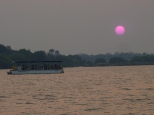 zambezi pink sunset